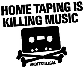 'Home taping is killing music' logo