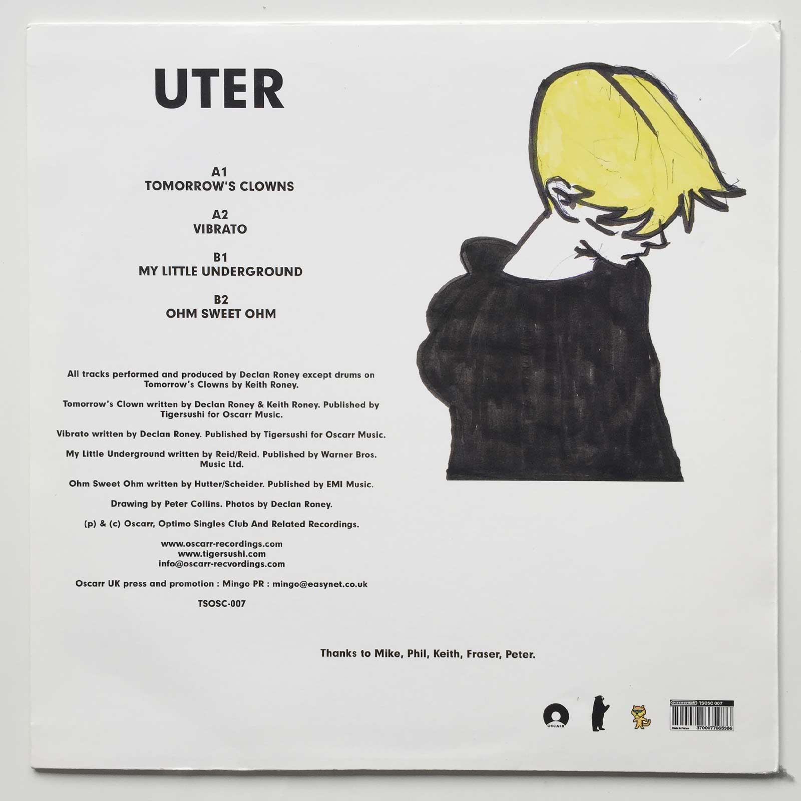 Uter: Tomorrow's Clowns back cover